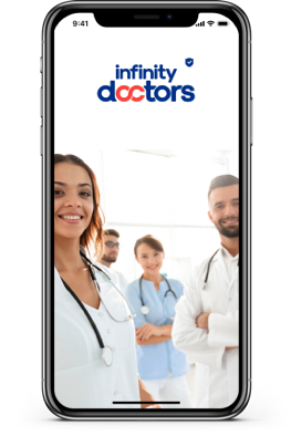 phone-with-doctors-background